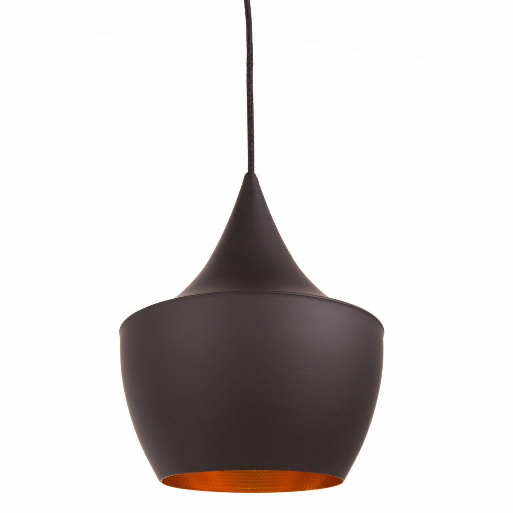 Tom Dixon Style Beat Fat Pendant (Black) - Nathan Rhodes Design