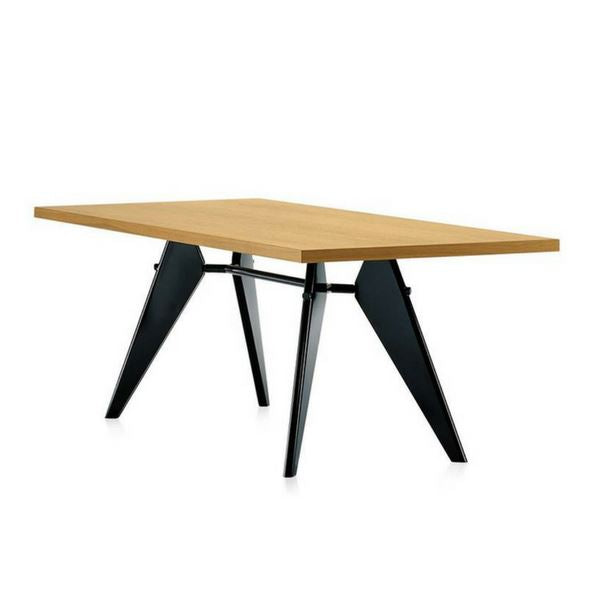 Jean Prouvé Style Gueridon Table L180xW90 (Ash / Ash Stained in Black Frame) - Nathan Rhodes Design