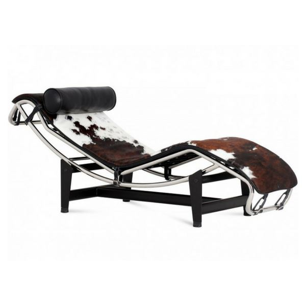 Le Corbusier Chaise Style Lounge Chair (Pony Skin Leather) - Nathan Rhodes Design
