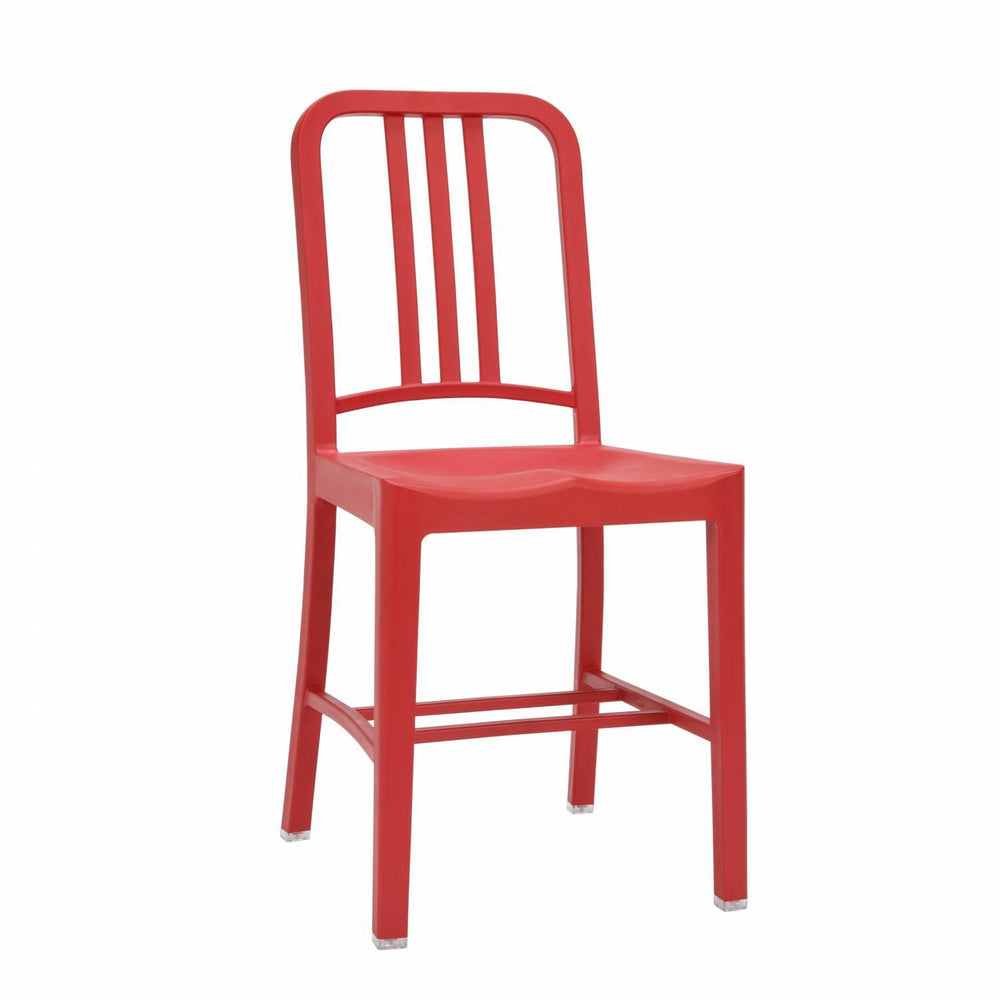 Emeco Style Navy Plastic Chair (Red)