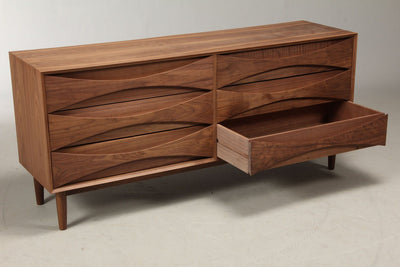 Arne Vodder Style Six Drawers Sideboard (Walnut) W160cm - Nathan Rhodes Design