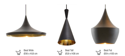 Tom Dixon Style Tall Beat Shade Pendant