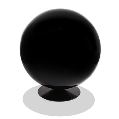 Eero Aarnio Style Ball Chair (Black Fiberglass/Red Fabric) - Nathan Rhodes Design