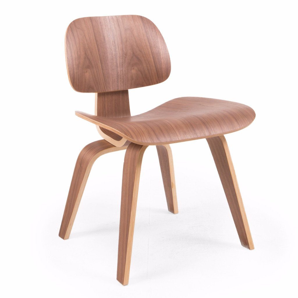 Eames Style DCW Molded Plywood Lounge Chair (Walnut) - Nathan Rhodes Design