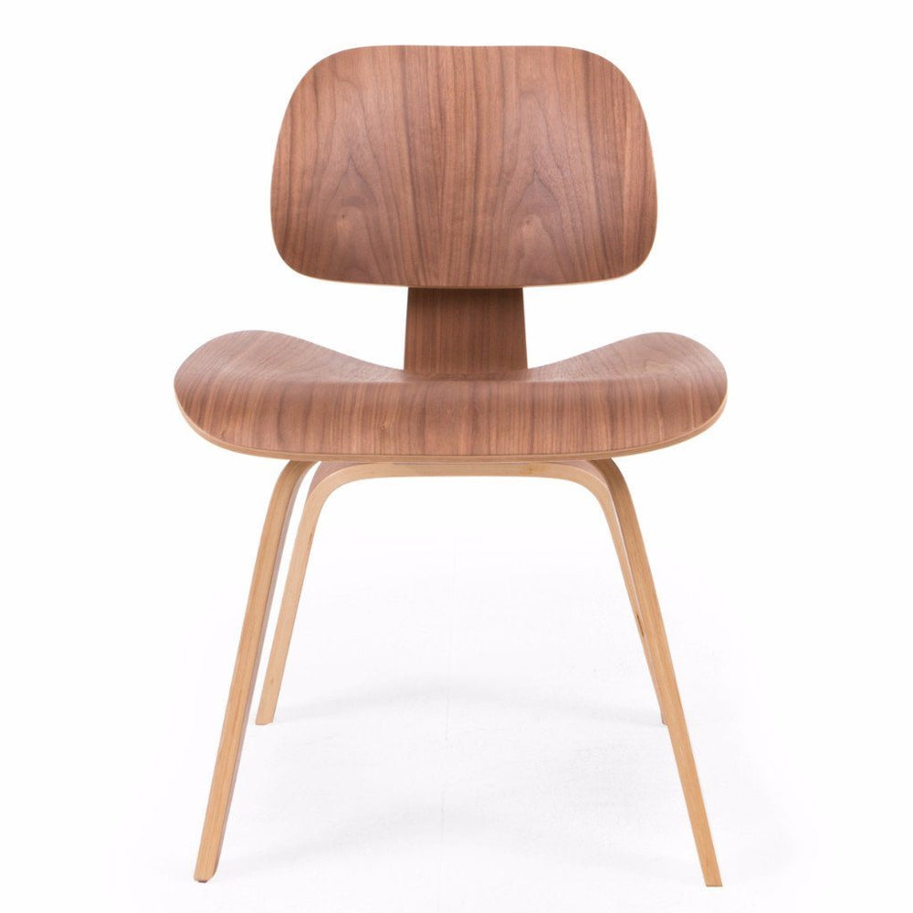 Eames Style DCW Molded Plywood Lounge Chair (Walnut)