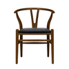 Wegner Wishbone Chair Style with Padded Seat