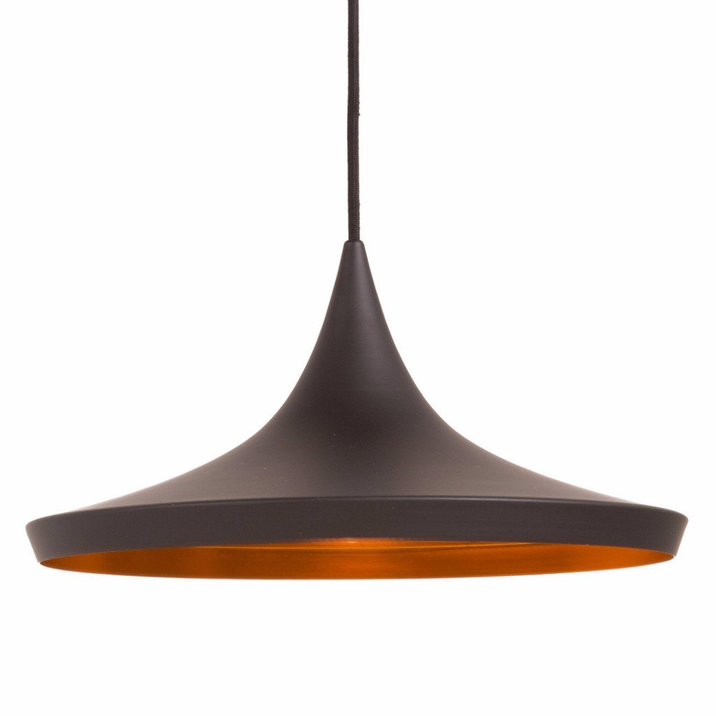Tom Dixon Style Beat Wide Pendant (Black) - Nathan Rhodes Design