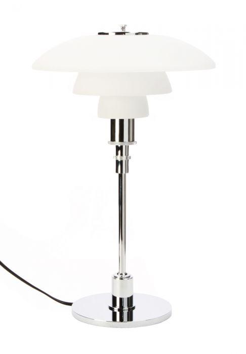 Poul Henningsen Style 4/3 Table Lamp (Chrome) - Nathan Rhodes Design