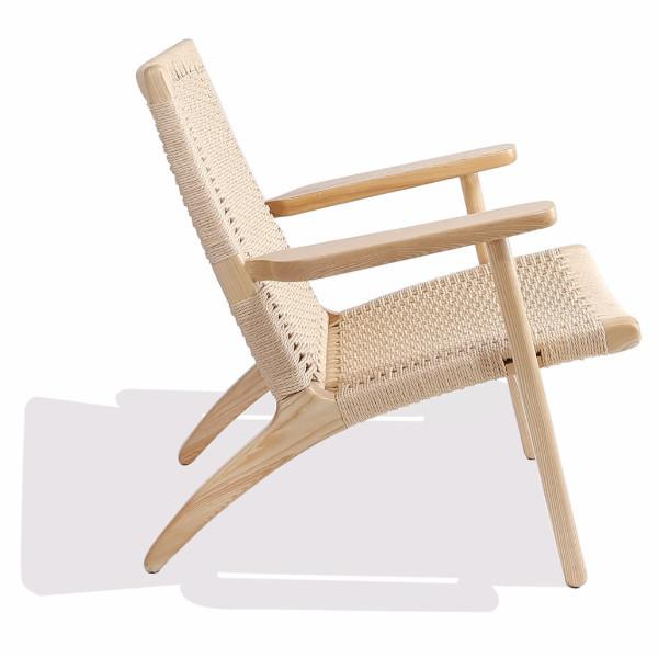 Wegner Style CH25 Chair (Natural Cord / Natural Ash Frame)