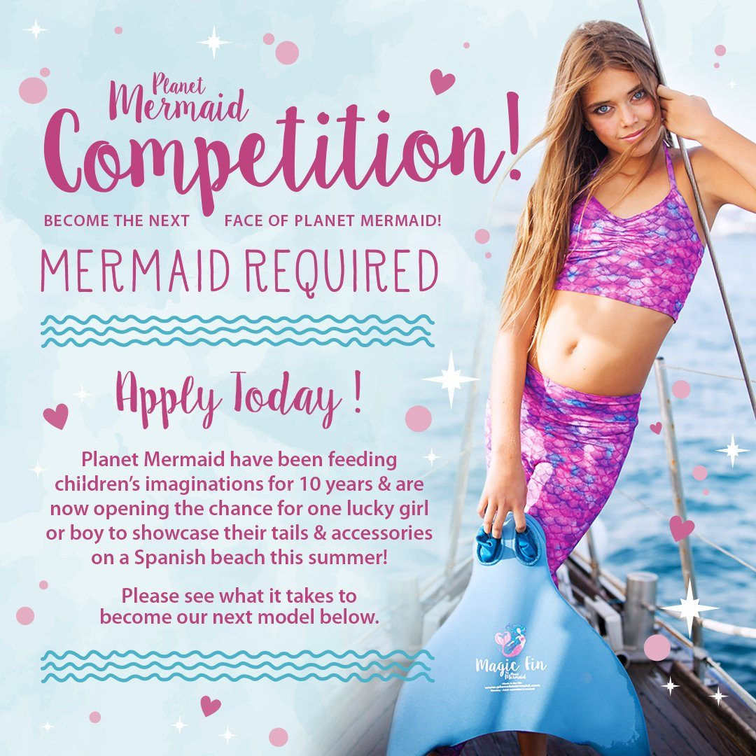Mermaid or Merboys Required!