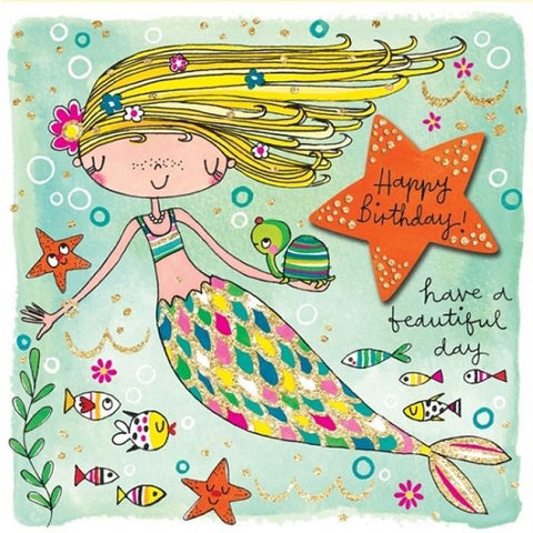 Mermaid Happy Birthday Gift cards