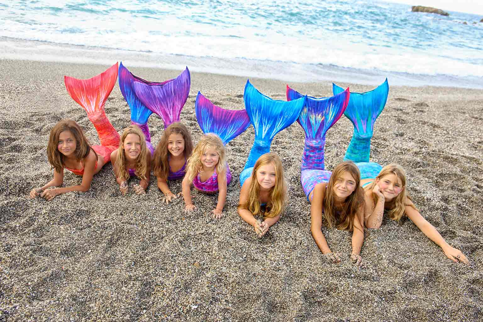 Merplanet Mermaid Tails at the beach