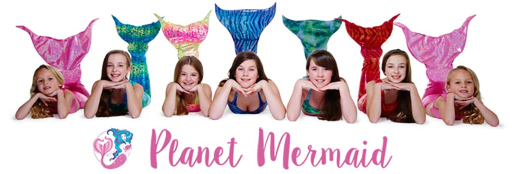 Mermaid tail fin swimmable costumes from Planet Mermaid for Swimming, Birthday and Christmas presents