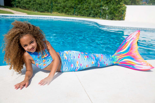 Rainbow Mermaid Tail - Fun, Realistic and Swimmable