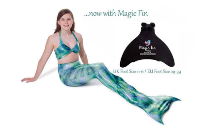 Celtic Mist Mermaid Tail with Magic Fin and Bikini Top