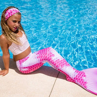 Finsbury Pink mermaid tail and pink tankini