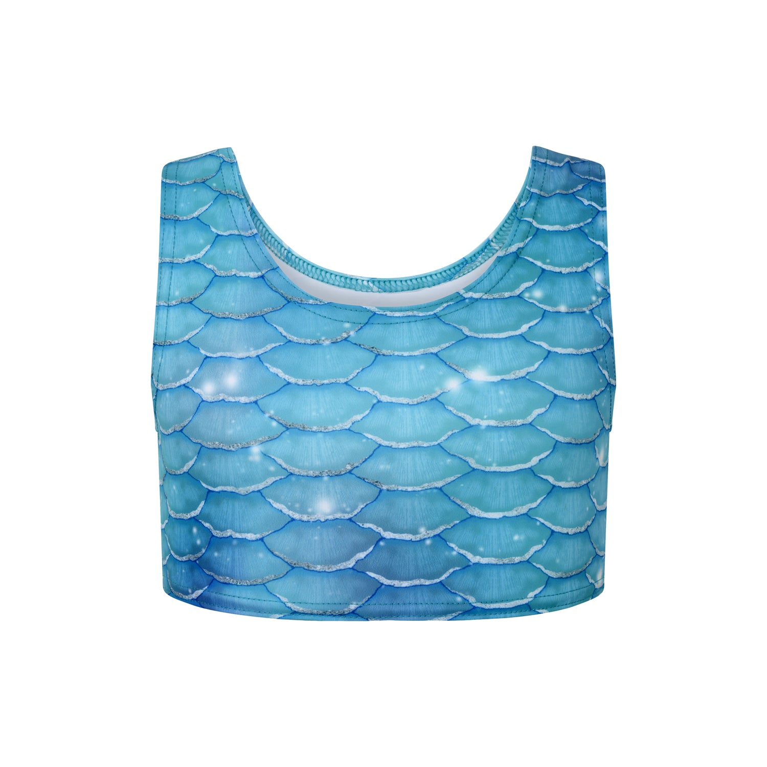 Crop top argenté surfeur