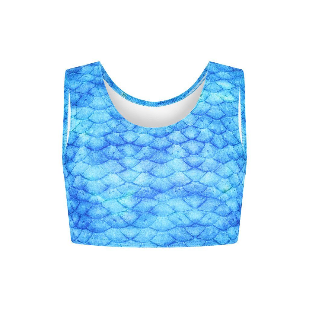 Frozen Aqua Crop Top