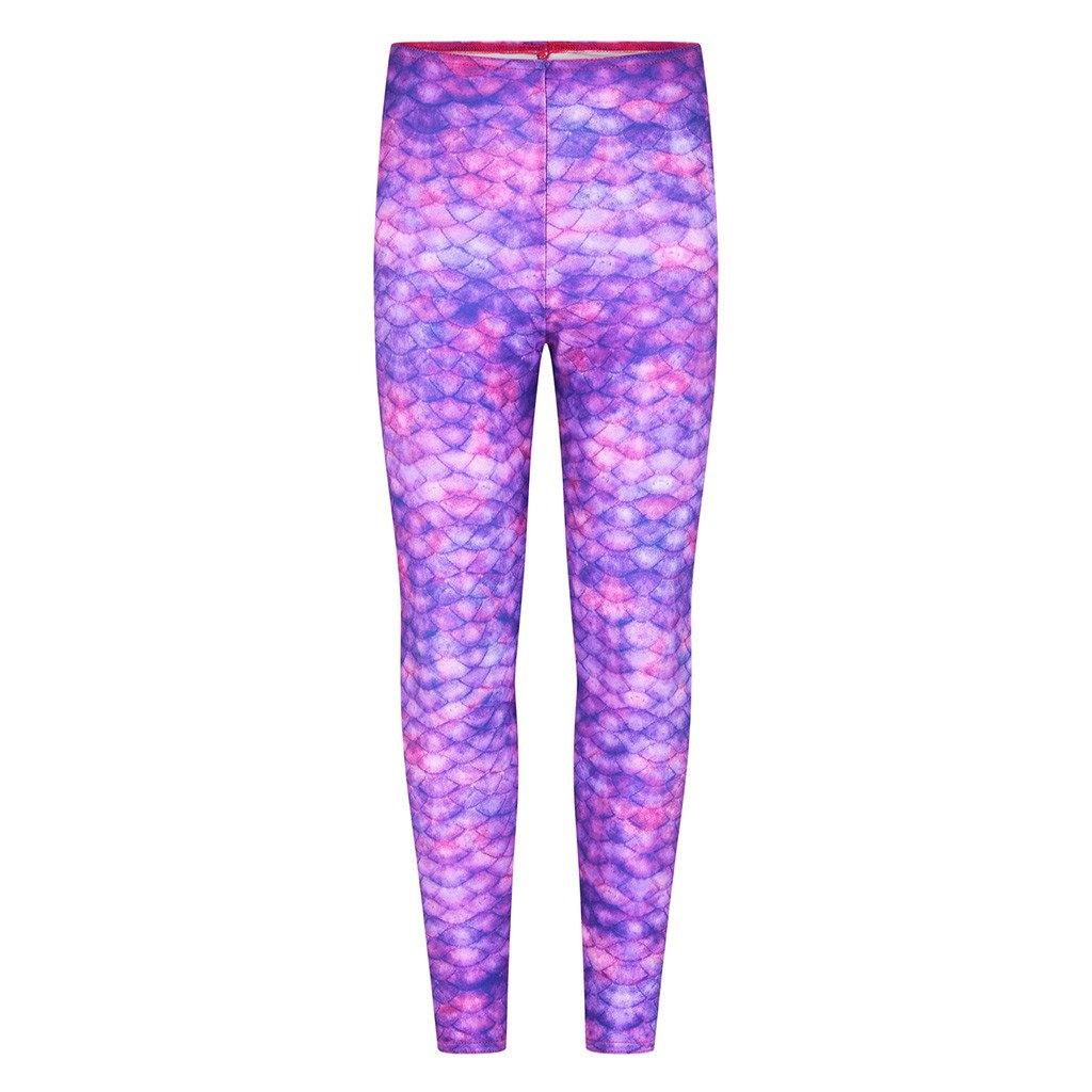 Purple Surf Mermaid Leggings