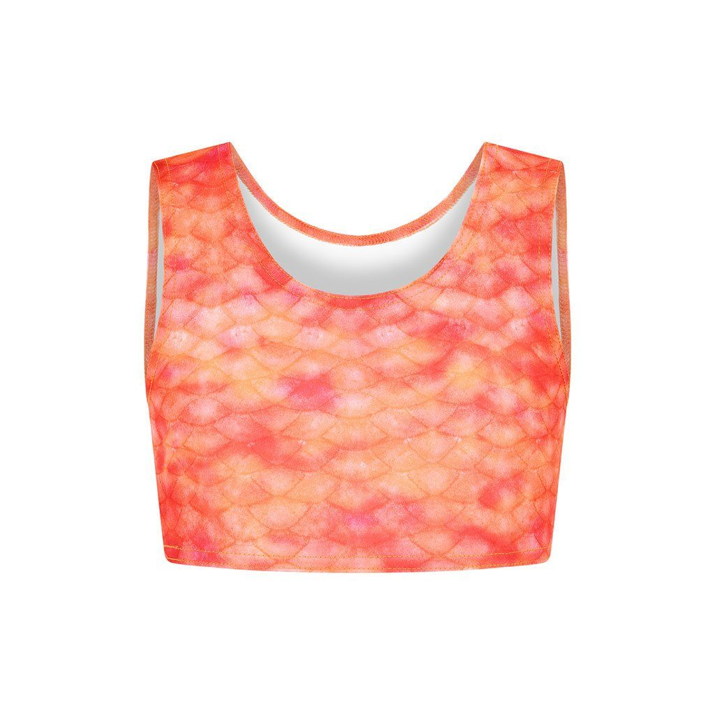 Sunset Splash Mermaid Crop Top