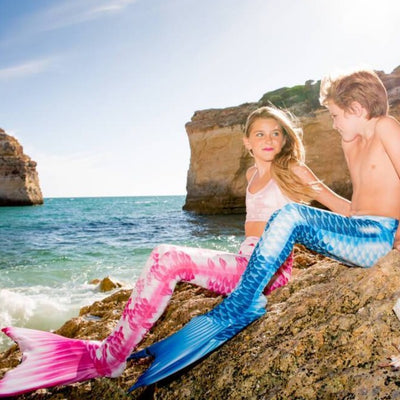 Merboys and Mermaids at the seaside