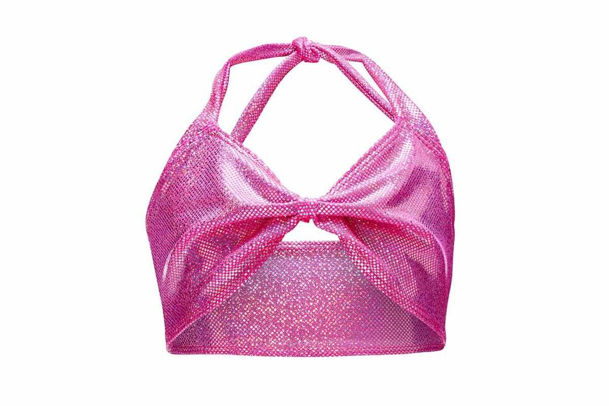 Princess Pink Mermaid Bikini Top