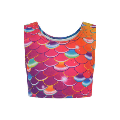 Bubblegum Beach Mermaid Crop Top