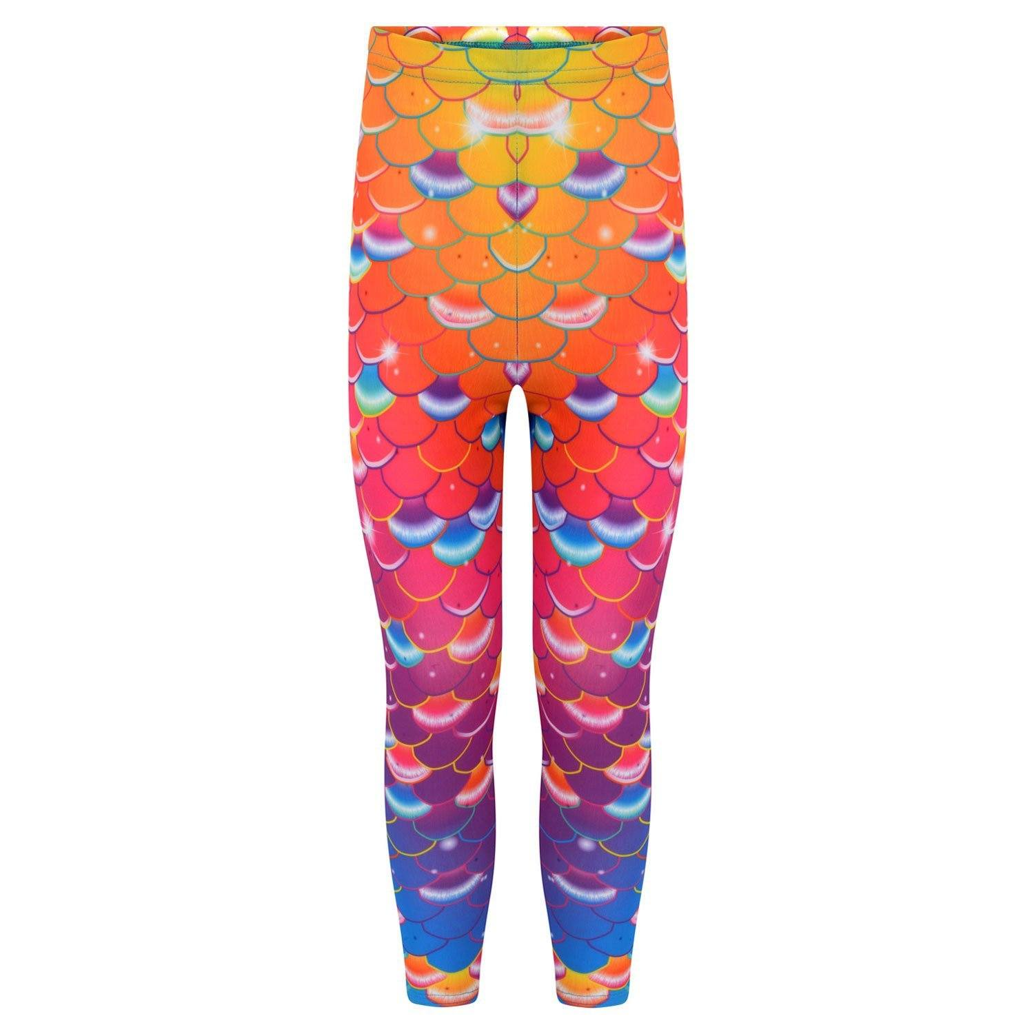 Coral Carnival Rainbow mermaid leggings