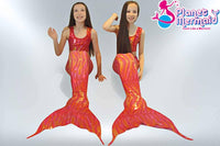 Crop Top - Coral Reef Mermaid Top and matching tail