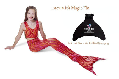 Coral Reef Mermaid Tail with Magic Fin