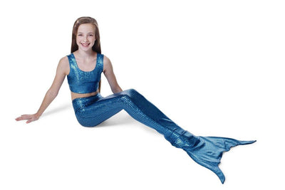 Frozen Blue Scales Mermaid Tail