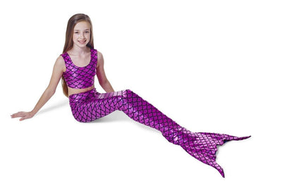 Fuschia Pink Scales mermaid tail