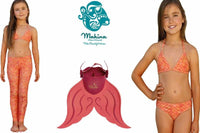 Lil Merfin in Coral with matching swimwear