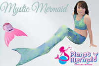 Mystic Mermaid Tail with Swim Fin Monofin