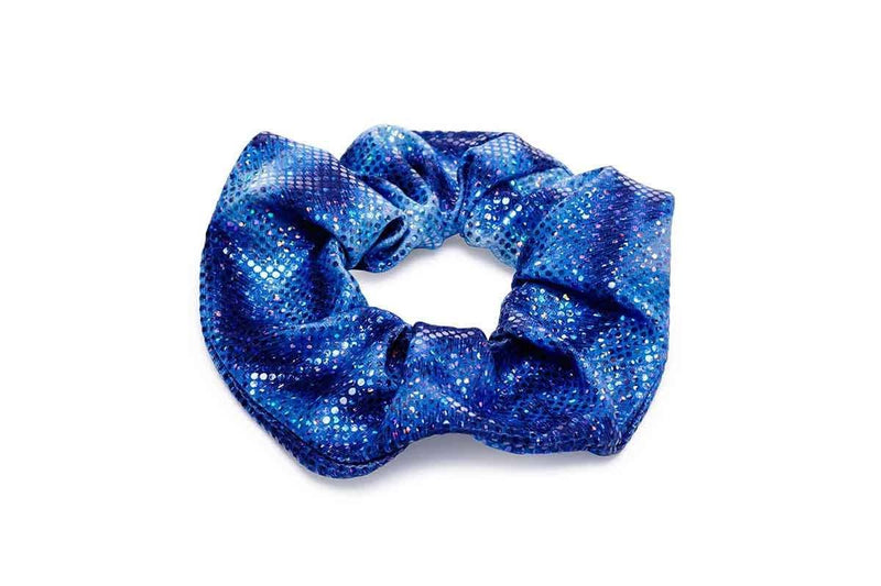 caribbean blue hair scrunchie planet mermaid