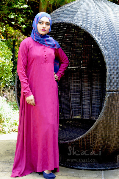 Plum Rosemary Dress with Complementary matching scarf