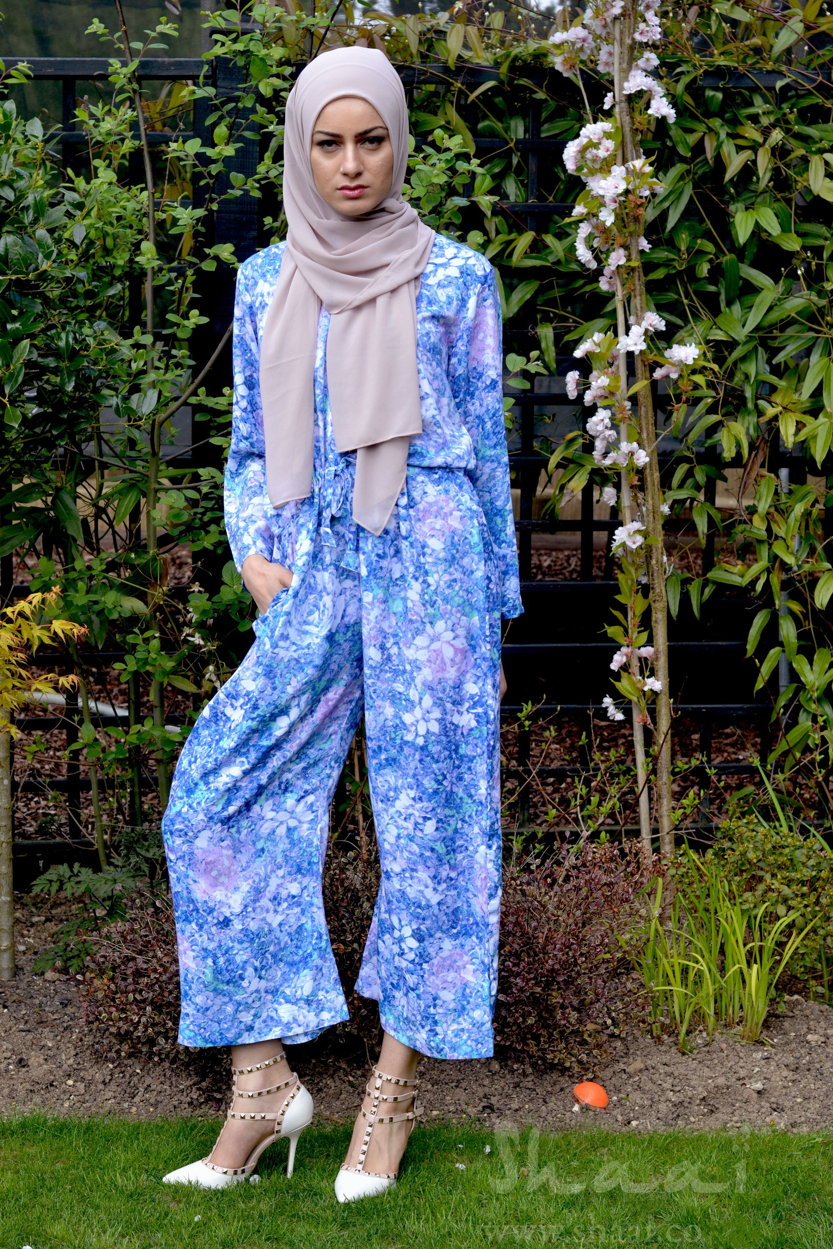 Blue printed Jumpsuit