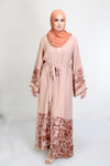 NAWRA Abaya in Dusty Pink