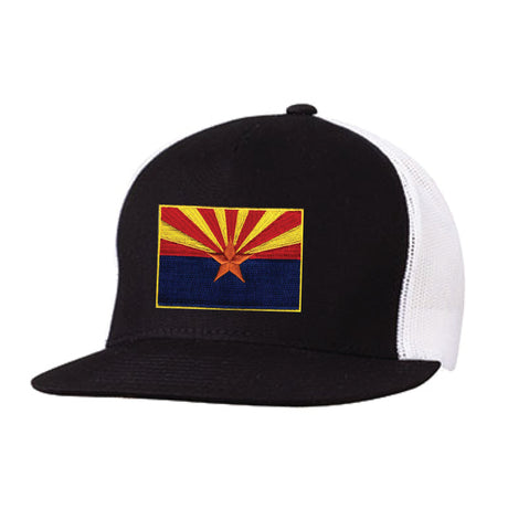 HW1015 AZ Flag Patch Flat SnapBack