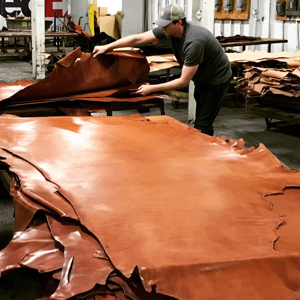 full grain leather hide selection