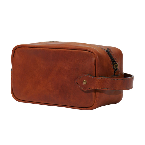 Jackson Wayne Dopp kit in full grain leather saddle tan color