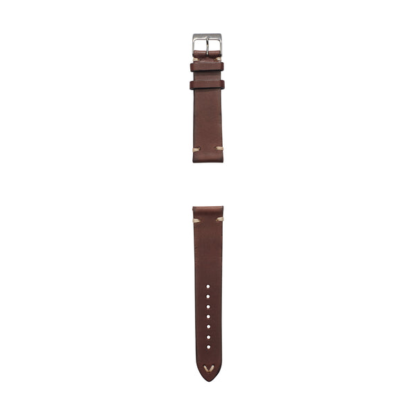 vintage brown Italian leather watch strap by Jackson Wayne