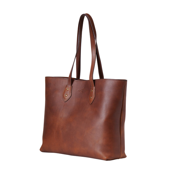 wildwood brown leather tote bag by Jackson Wayne