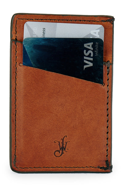 full grain leather minimalist wallet with credit cards by Jackson Wayne