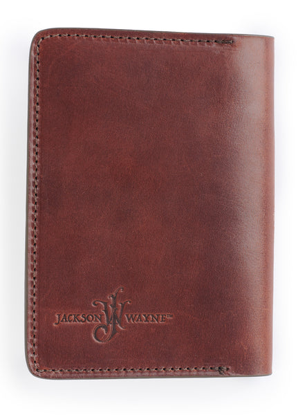 back of field notes journal in full grain leather fits moleskine notebooks