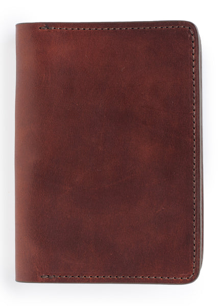 "front of field notes journal - leather cover for 3.5"" x 5.5"" notebooks vintage brown color"