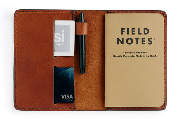 leather cover for field notes moleskine notebooks made of vegetable tanned bridle leather