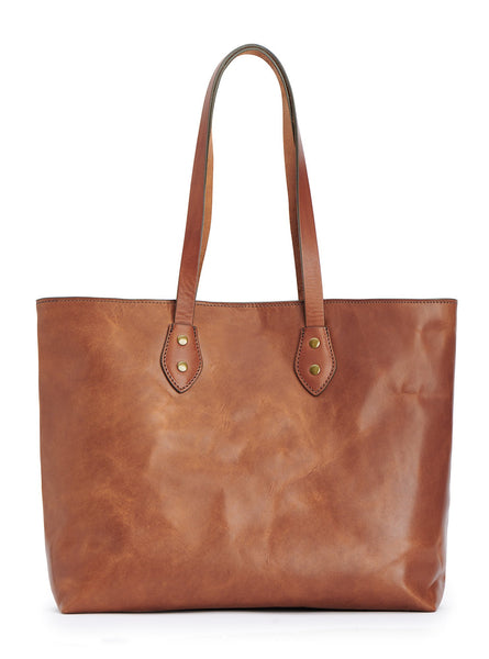 Jackson Wayne franklin market tote - vegetable tanned full grain leather