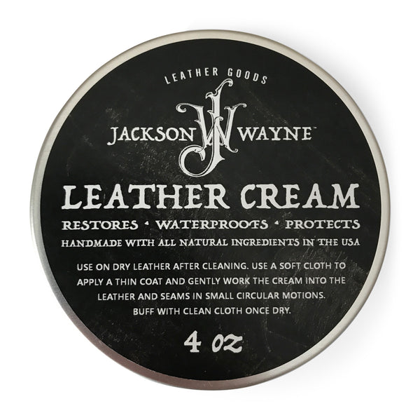 Jackson Wayne All Natural Leather Cream & Conditioner Made in USA