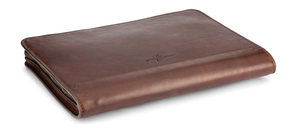 hancock portfolio - full grain vegetable tanned leather padfolio by jackson wayne